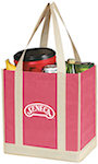 Two Tone Small Grocery Tote Bags